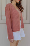 Jayde Cardigan in Dusty Rose