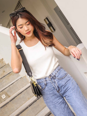 Kalisa Knit Basic Top in White