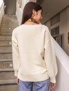 Casey Knit Sweater in Cream