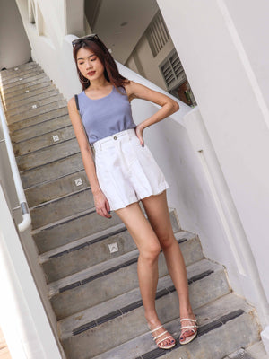 Kalisa Knit Basic Top in Periwinkle