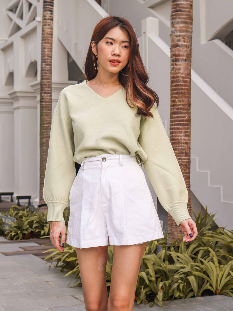 Casey Knit Sweater in Lime