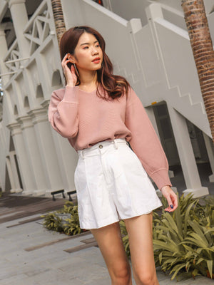*RESTOCKED*Casey Knit Sweater in Pale Pink