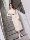 *EXCLUSIVE* Kiki Turtle Neck Knit Dress in Cream
