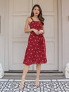 *RESTOCKED* Coe Floral Dress in Maroon