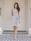 Ashle Toga Drape Dress in Grey