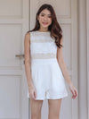 Carli Lace Romper in White