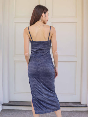 Yara Maxi Dress in Navy