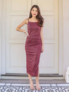 Yara Maxi Dress in Wine