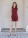 Juel Lace Romper in Burgundy