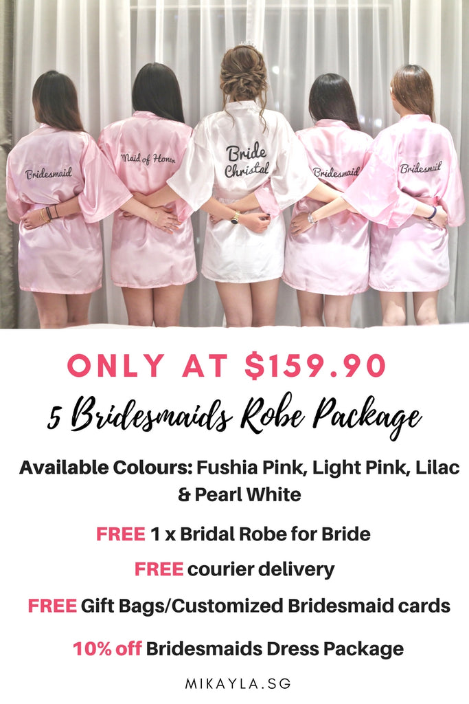Personalised Satin bridal robes in Singapore  befcc93c3