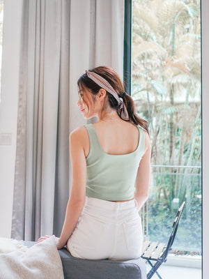 *BACKORDER* Una Padded Crop Top in Seafoam