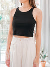 Racer Crop Top in Black