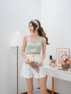 *BACKORDER* Coco Toga Padded Crop Top in Seafoam