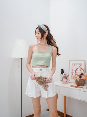 Coco Toga Padded Crop Top in Seafoam