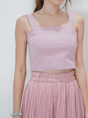 Rica Padded Crop Top in Lilac