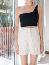 Coco Toga Padded Crop Top in Black