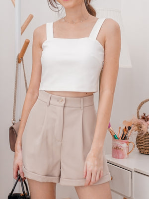 *BACKORDER* Rica Padded Crop Top in White