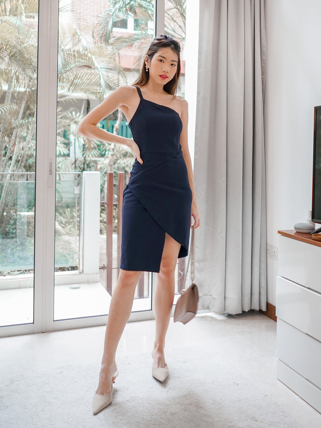 Ellen Toga Dress in Navy