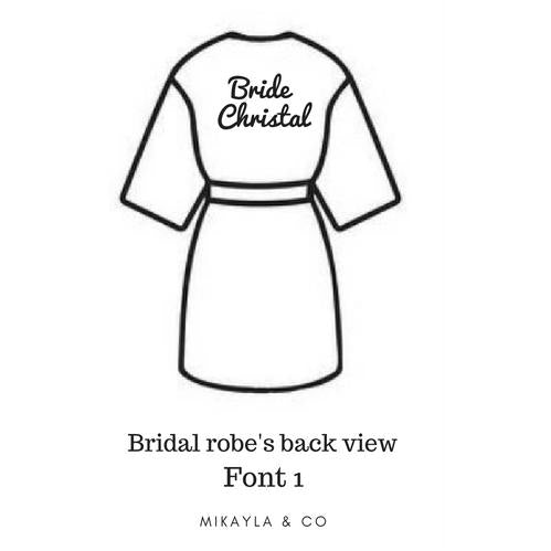 2726e88704 Personalised Bridal robe in Singapore