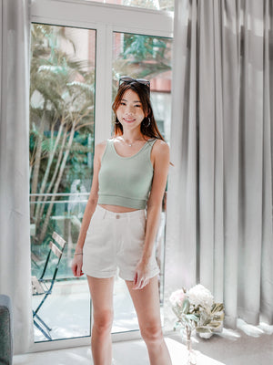 Molo Linen Matching Shorts in White