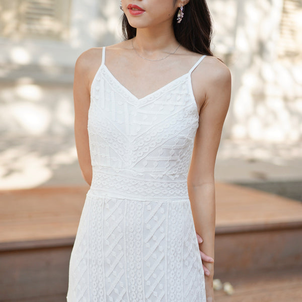 Ava Lace Dress V2 in White