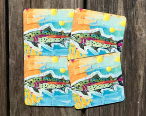 Fish Coasters set of 4