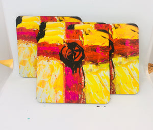 Cross coasters set of 4