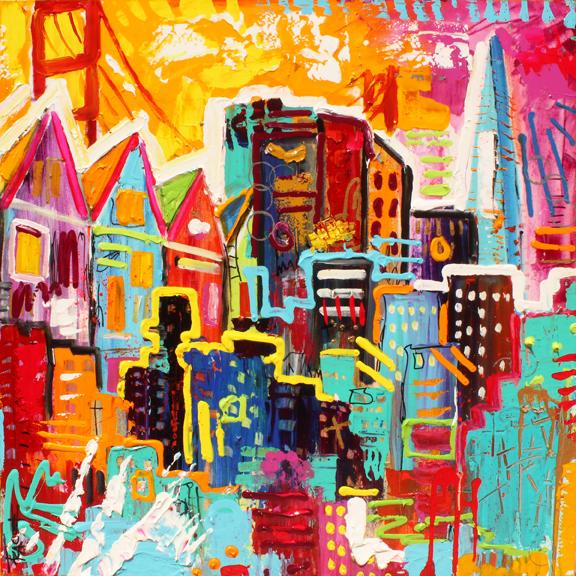 Painting of San Francisco, California  36