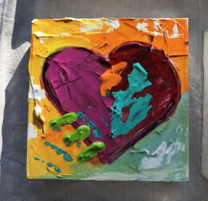 "Heart Painting 6""x6"""