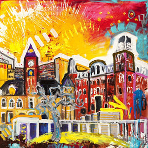 Fayetteville/ UofA Print on Stretched Canvas 022