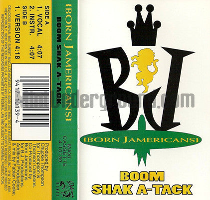Born Jamericans: Boom Shak A Tack: Cassette Single