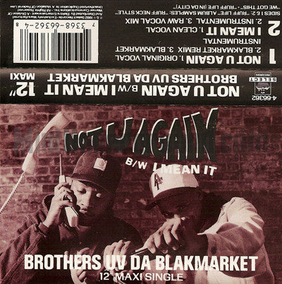 Brothers Uv Da Blakmarket: Not U Again: Cassette Single