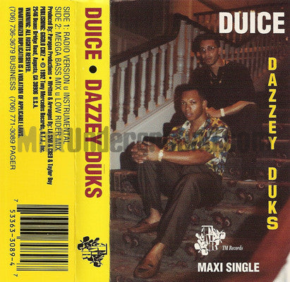 Duice: Dazzey Duks: Cassette Single