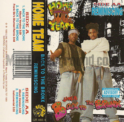 Home Team: Back To The Bronx: Cassette Single
