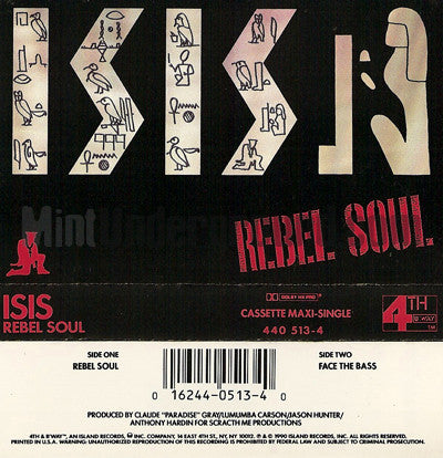 Isis: Rebel Soul: Cassette Single