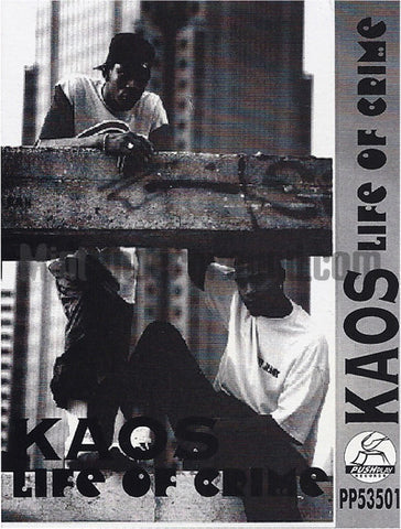 Kaos: Life Of Crime/What Goes Up Must Come Down: Cassette Single