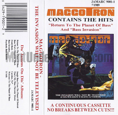 Maggotron: The Invasion Will Not Be Televised: Cassette