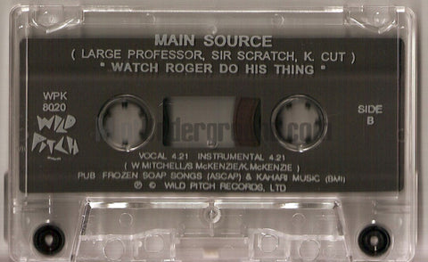 Main Source Looking At The Front Door Cassette Single Mint