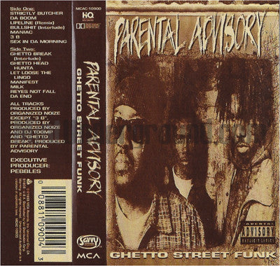Parental Advisory: Ghetto Street Funk: Cassette