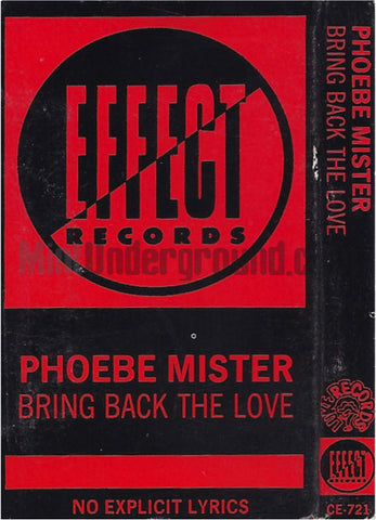 Phoebe Mister: Bring Back The Love: Cassette Single