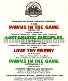 Professor Griff: Pawns In The Game/Last Asiatic Disciples/Love Thy Enemy: Cassette Single