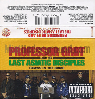 Professor Griff and The Last Asiatic Disciples: Pawns In The Game: Cassette