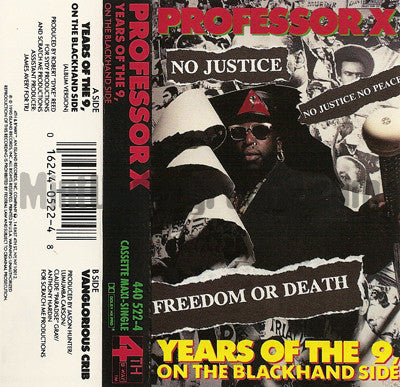 Professor X: Years Of The 9/Vanglorious Crib: Cassette Single