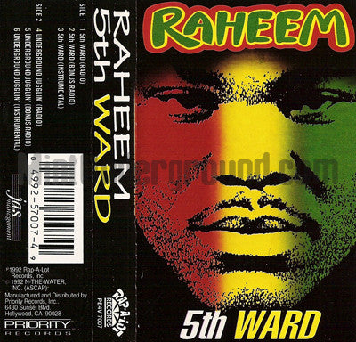 Raheem: 5th Ward/Underground Jugglin': Cassette Single