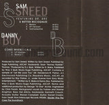 Sam Sneed: U Better Recognize/ Danny Boy: Come When I Call: Cassette Single