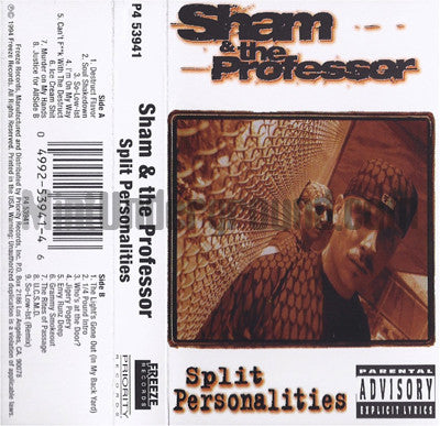 Sham & The Professor: Split Personalities: Cassette