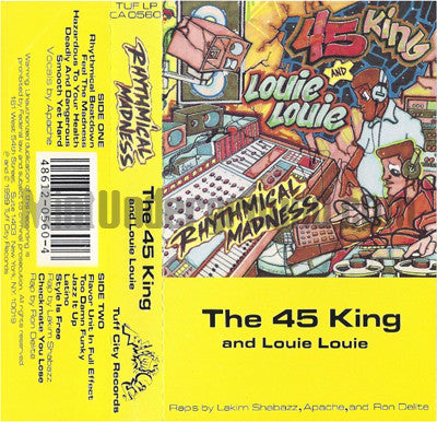 The 45 King and Louie Louie: Rhythmical Madness: Cassette