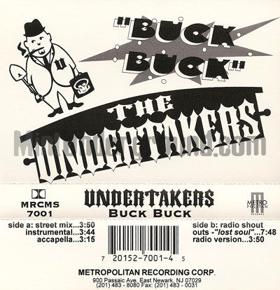 Undertakers: Buck Buck: Cassette Single