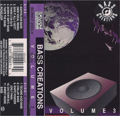 Various Artists: Bass Creations: Volume 3: Cassette