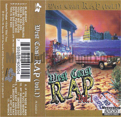 Various Artists: West Coast Rap Vol. 1: Cassette